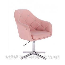 Парикмахерское кресло HROVE FORM HR830CROSS на хром стопках в ЦВЕТАХ кожзам
