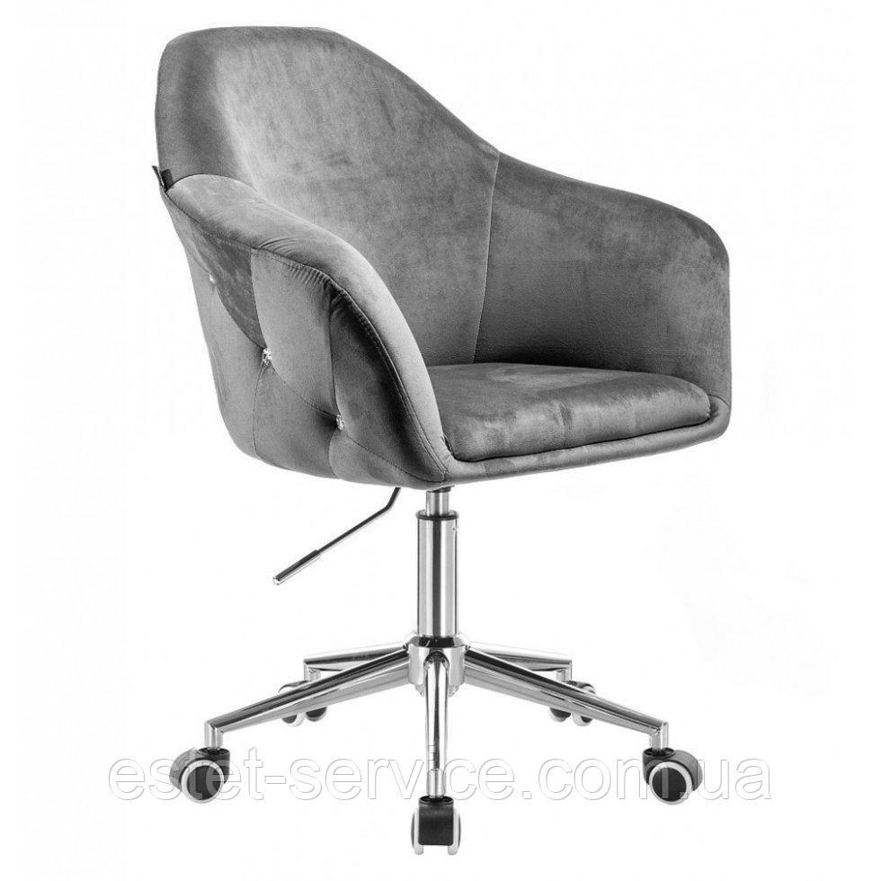 Парикмахерское кресло Hrove Form HR547k графитовый велюр
