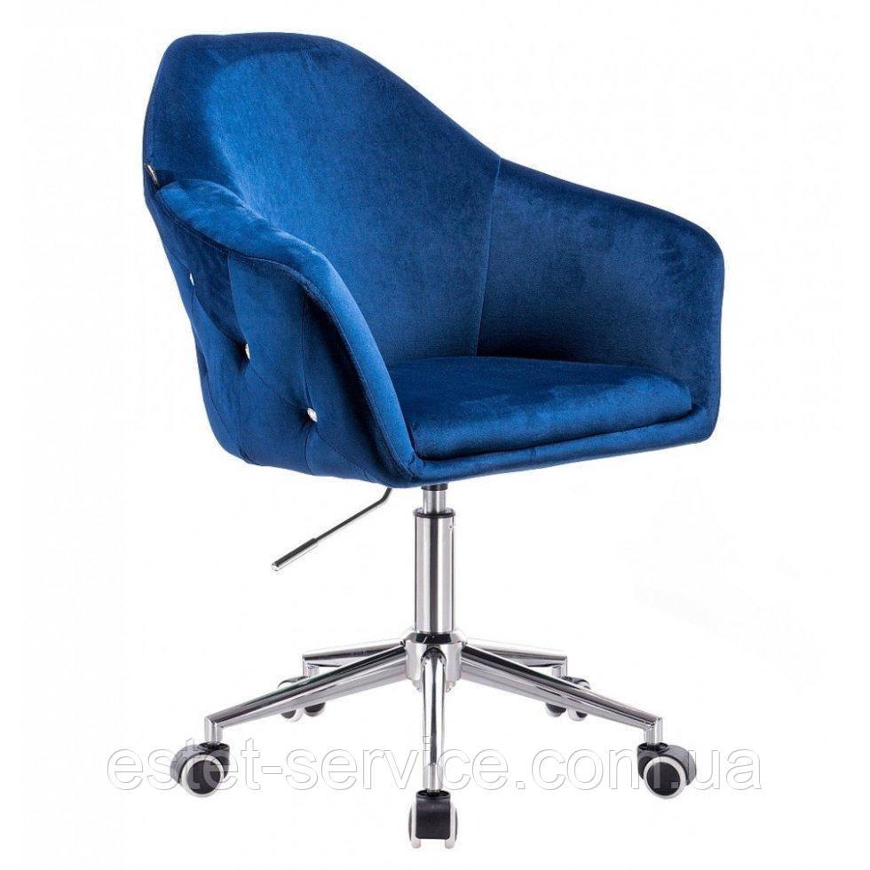 Парикмахерское кресло Hrove Form HR547k темно-синий велюр