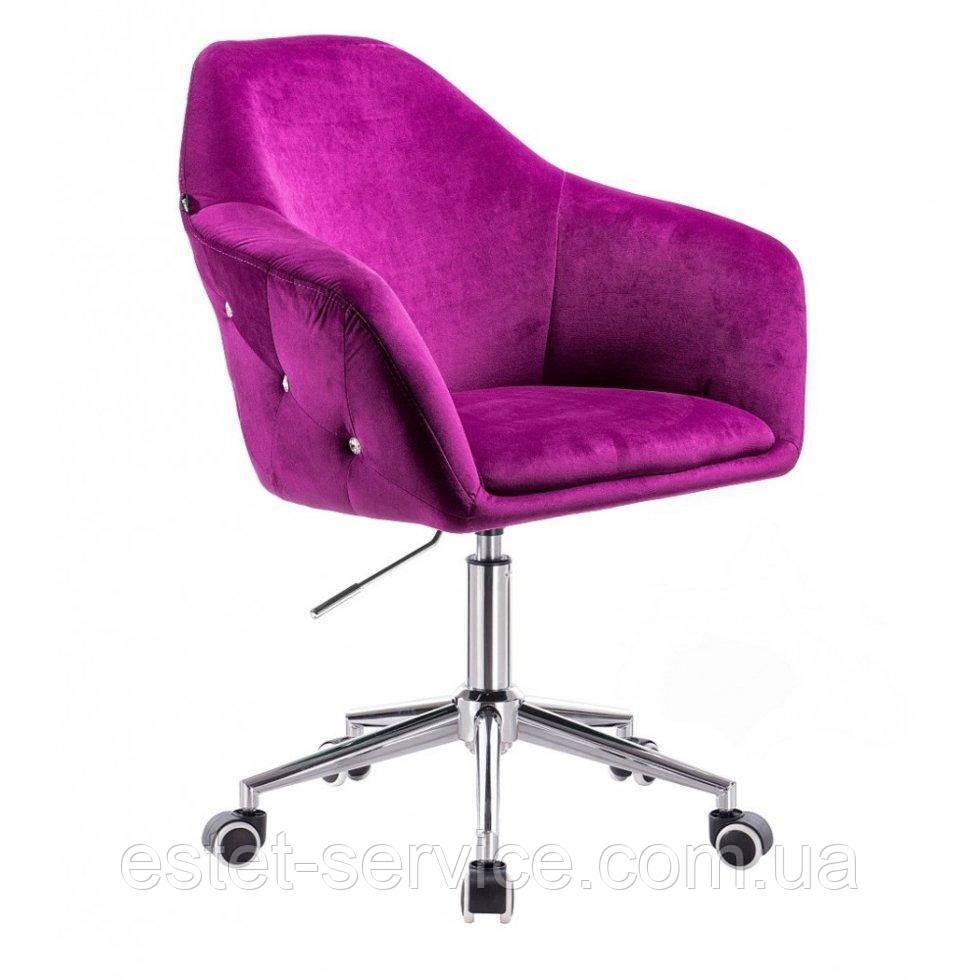 Парикмахерское кресло Hrove Form HR547k фуксия велюр