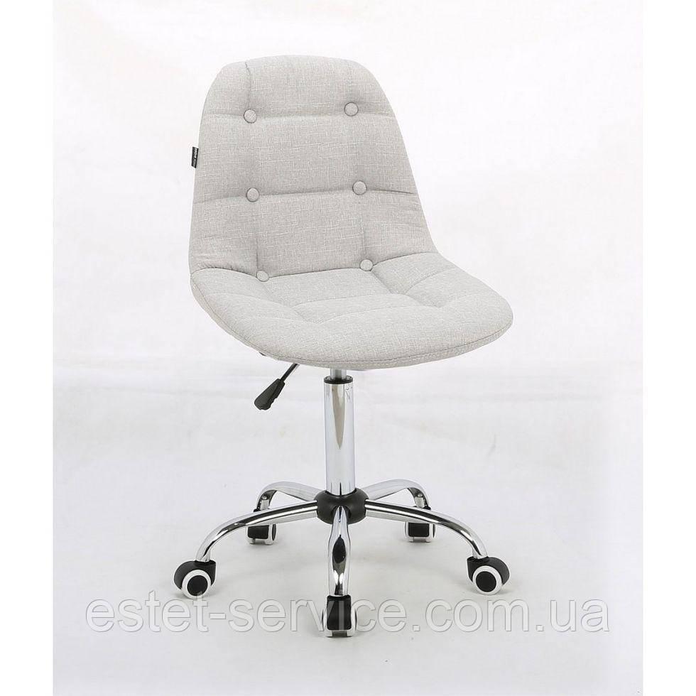Косметическое кресло HC-1801K светло-серое ткань хром