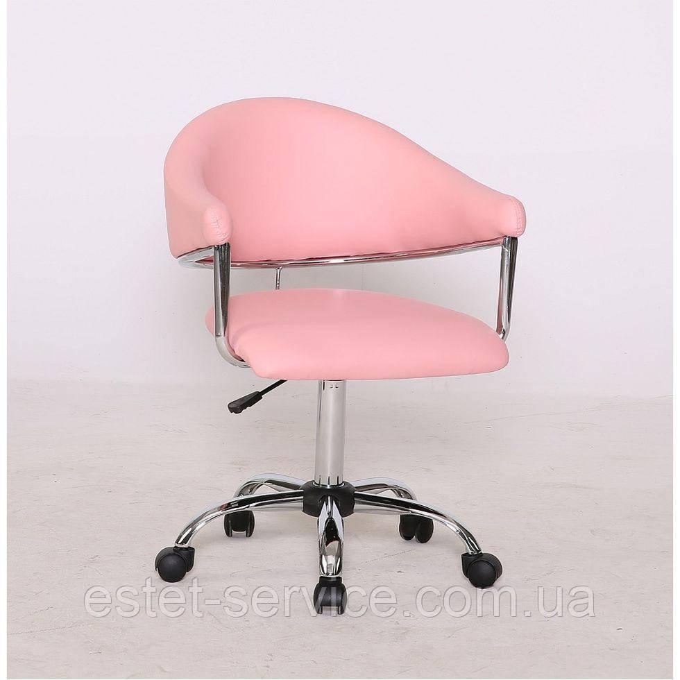 Косметическое кресло HC8056K на колесах с подлокотниками в ЦВЕТАХ  кожзам