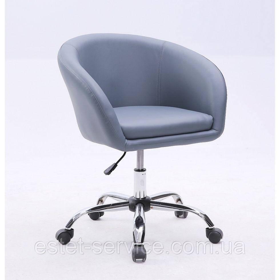 Кресло мастера HC8326K на хром колесах в ЦВЕТАХ кожзам