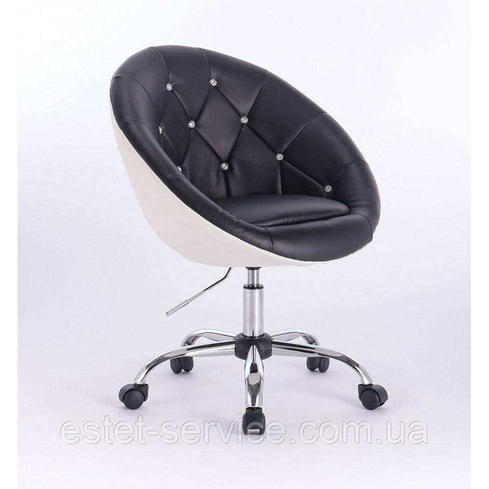 Косметическое кресло HC-8516K черно-белое