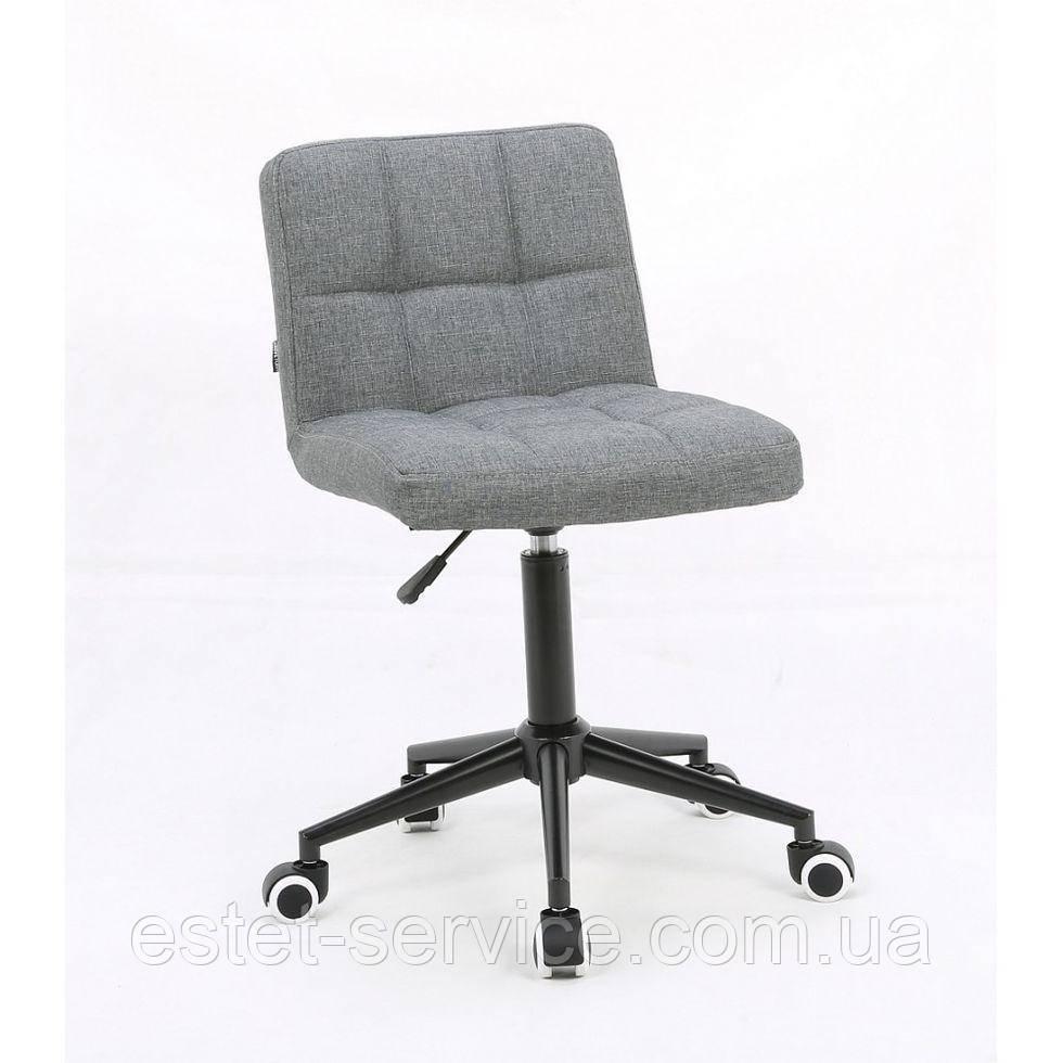 Косметическое кресло HROOVE FORM HR8052K серое ткань