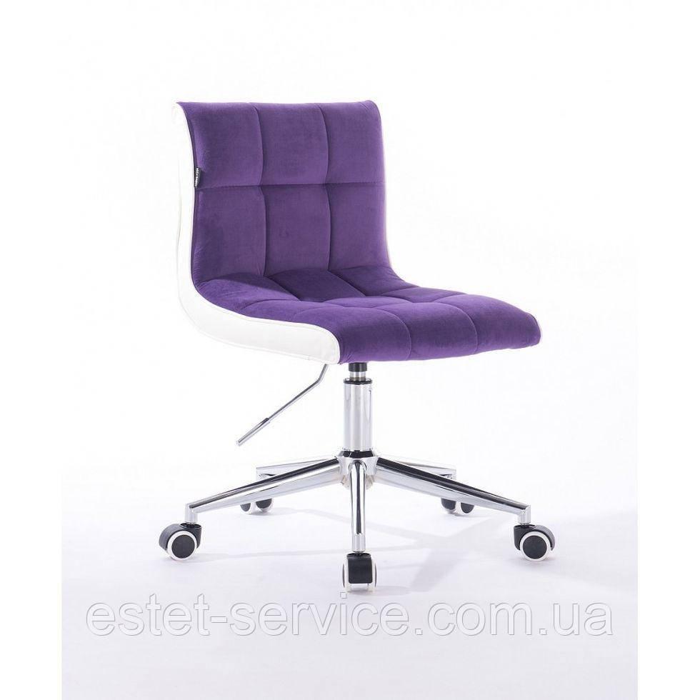 Косметическое кресло HROOVE FORM HR810K фиолетовый велюр