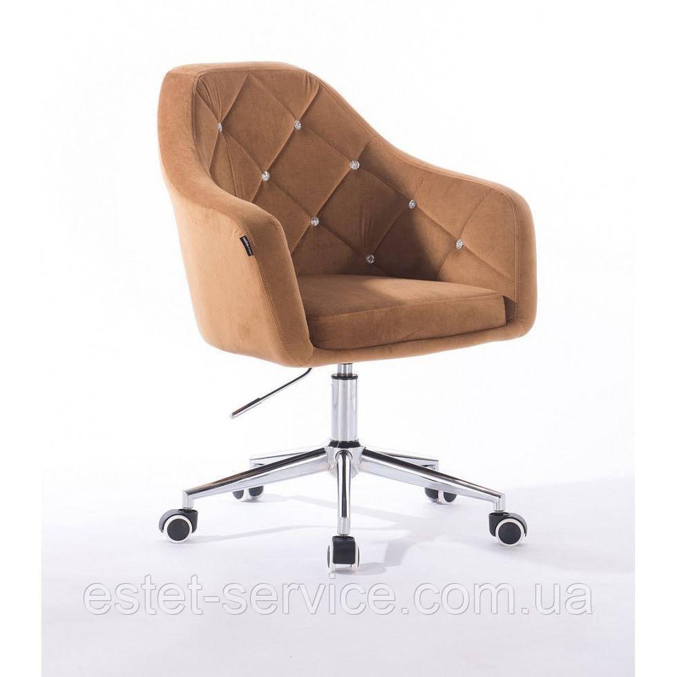Косметическое кресло HROOVE FORM HR830K медовый велюр
