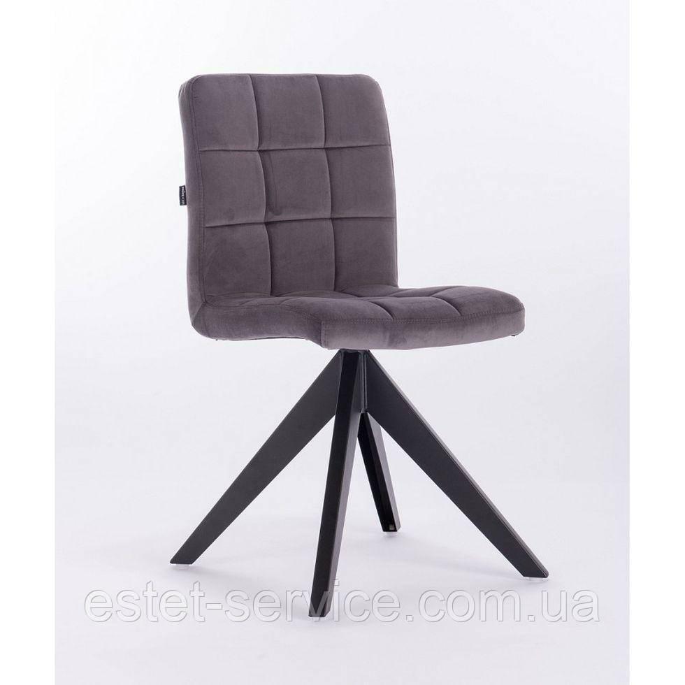 Кресло HROVE FORM HR7009 графитовый велюр на 4-х ножках