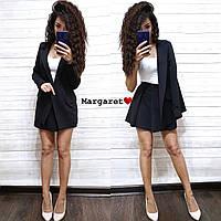 Женский костюм с юбкой - солнце и пиджаком удлиненным 9KO1116, фото 1