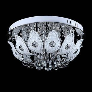 """Люстра """"торт"""" на 4 лампочки с LED подсветкой на пульте управления + динамик с MP3 СветМира VL-1649/450/4"""