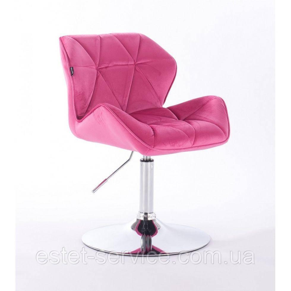 Кресло косметическое HR111N малиновый велюр