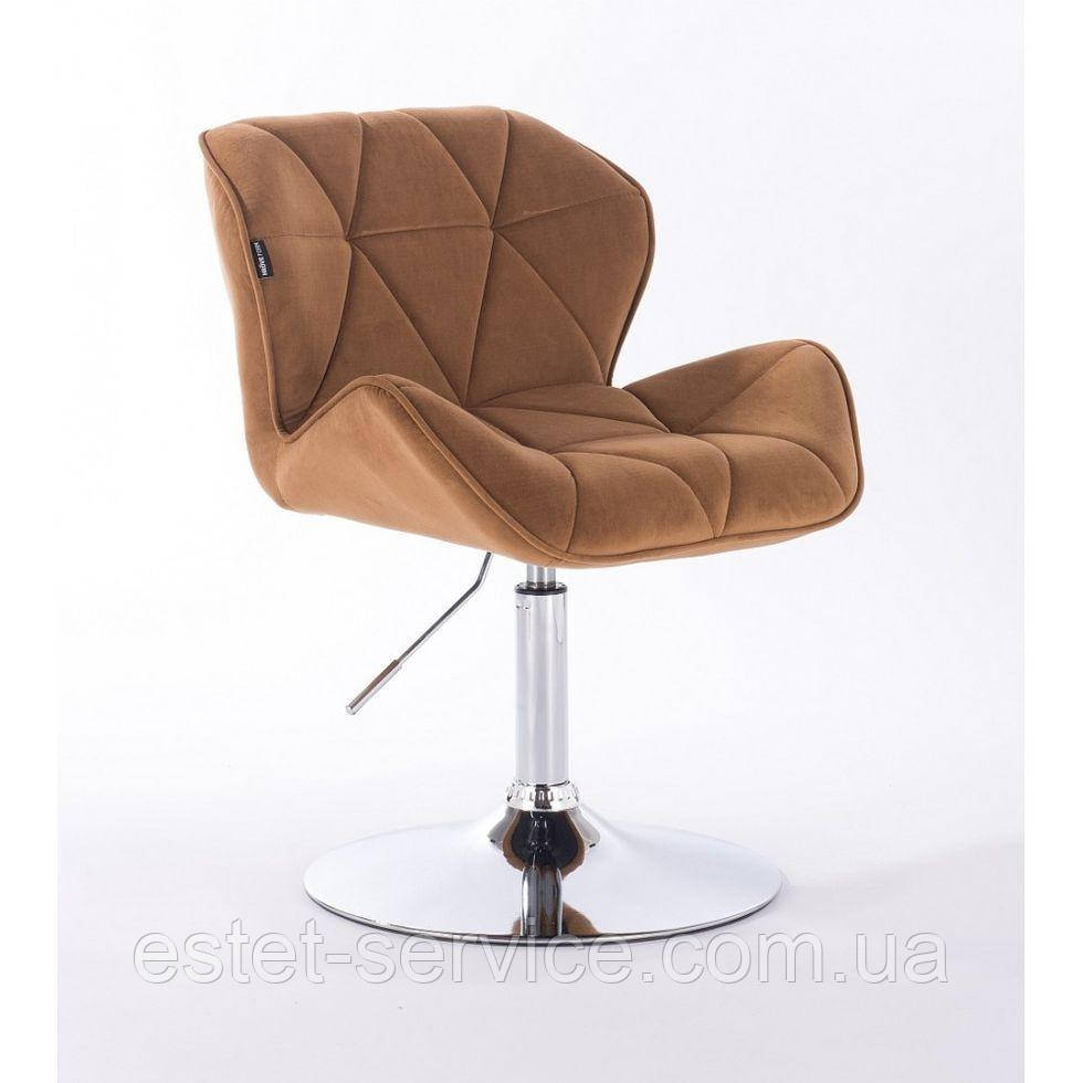 Кресло косметическое HR111N медовый велюр