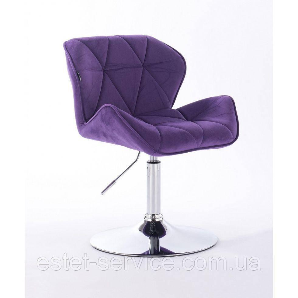 Кресло косметическое HR111N фиолетовый велюр