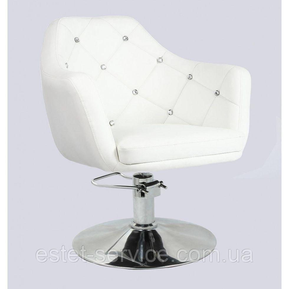 Кресло парикмахерское HC830H белое ГИДРАВЛИКА