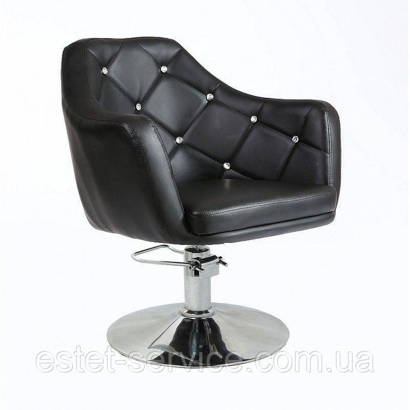 Кресло парикмахерское HC830H черное ГИДРАВЛИКА