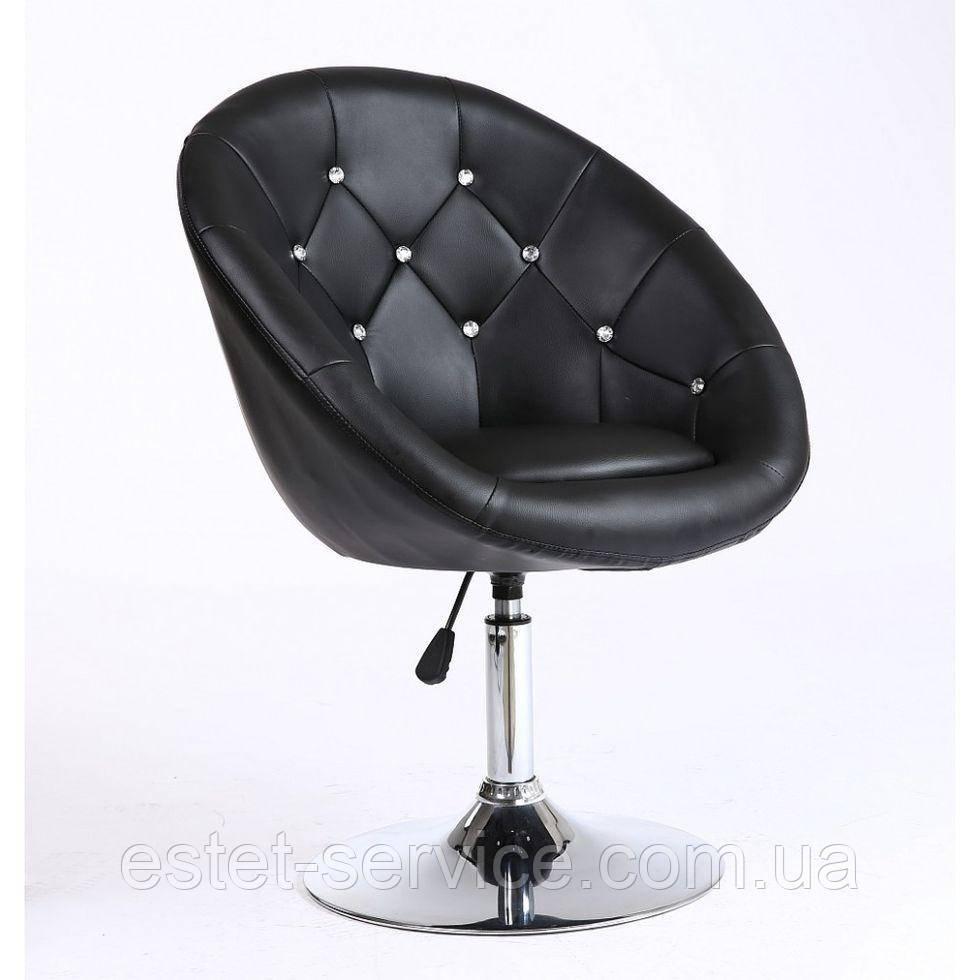 Парикмахерское  кресло HC-8516C черное со стразами