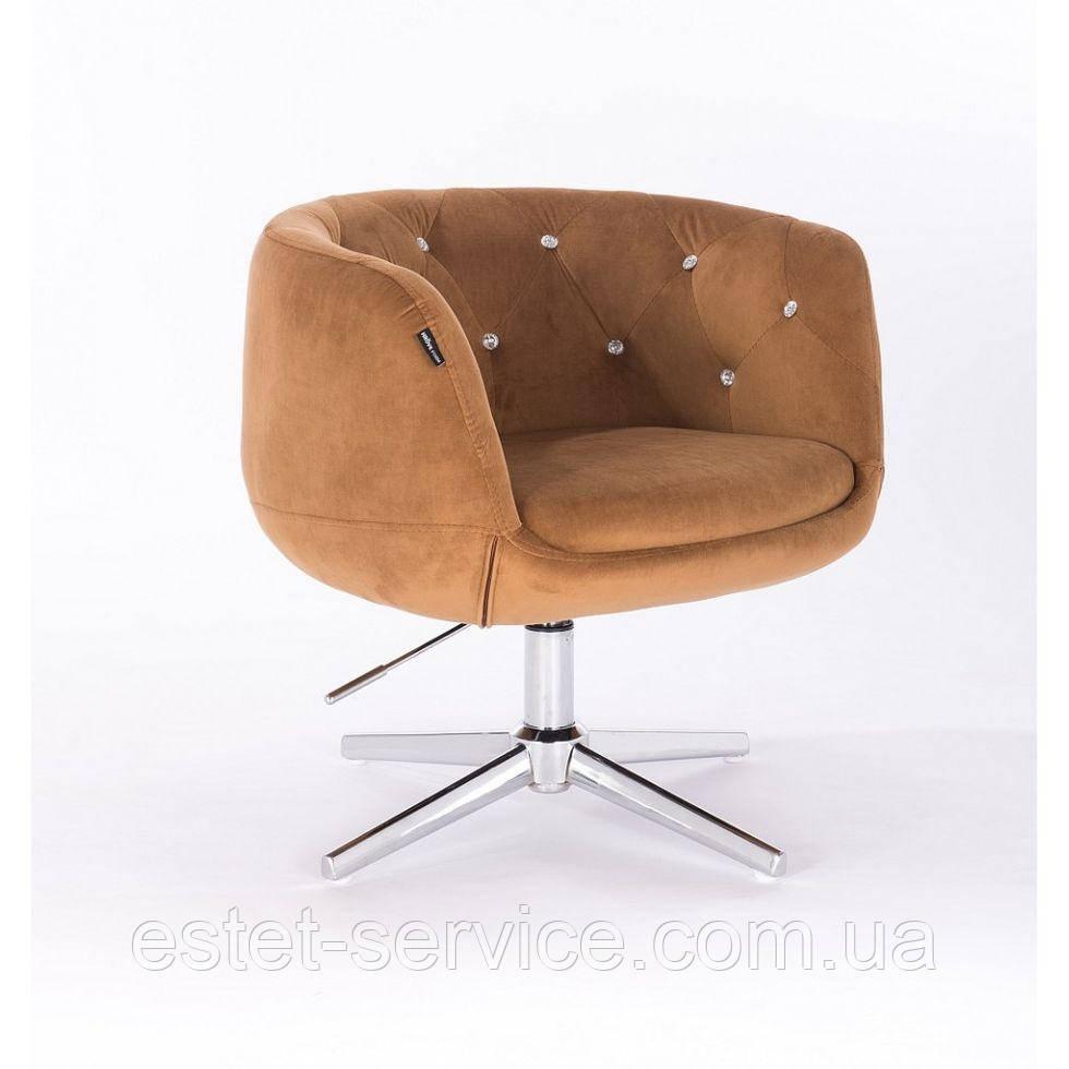Парикмахерское  кресло HROVE FORM HR333CROSS  медовый велюр