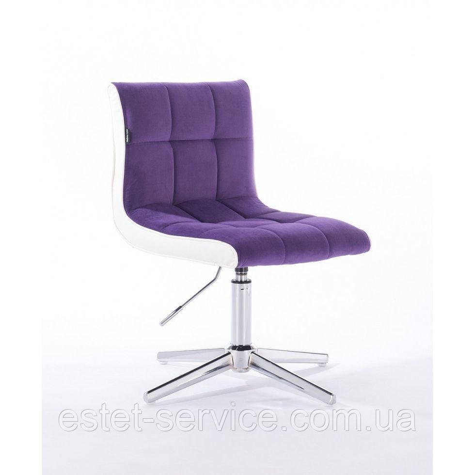 Парикмахерское  кресло HROVE FORM HR810CROSS фиолетовый велюр
