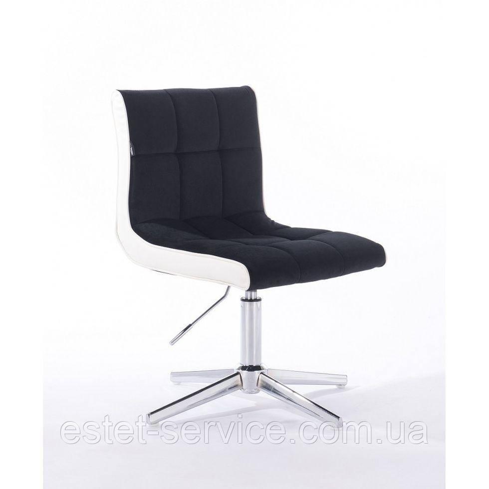 Парикмахерское  кресло HROVE FORM HR810CROSS черный велюр