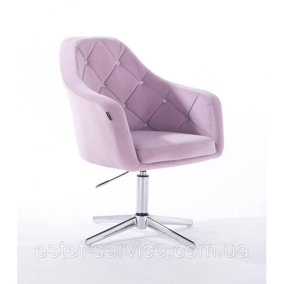 Парикмахерское  кресло HROVE FORM HR830CROSS вересковый велюр