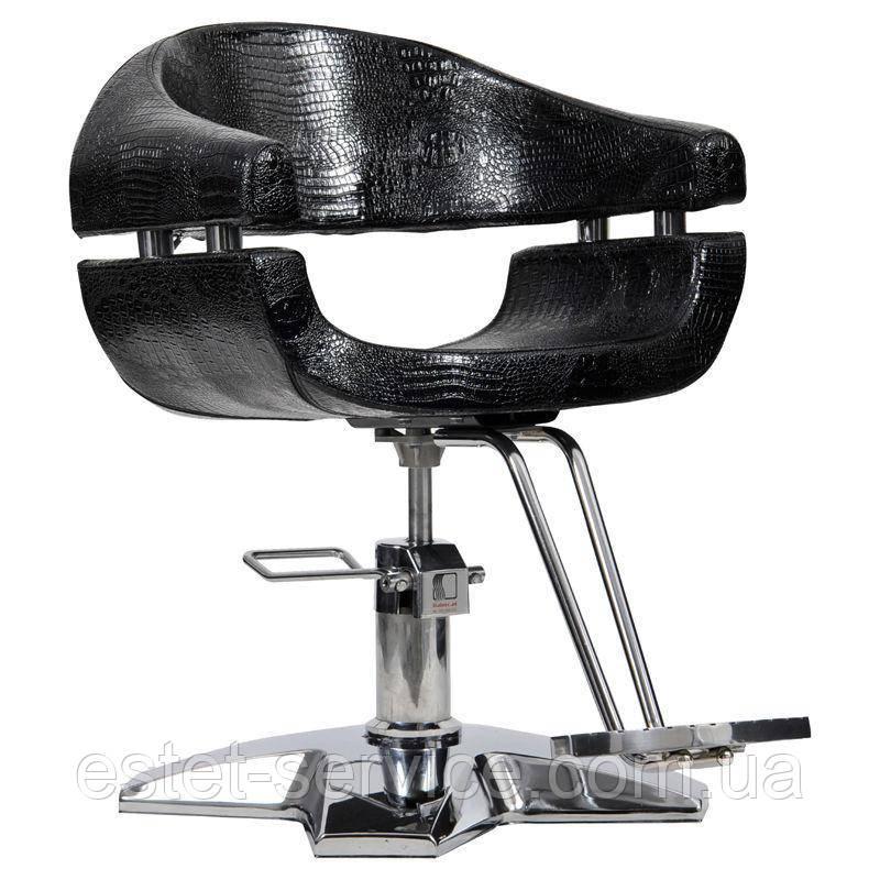 Парикмахерское кресло Gamma черный крокодил