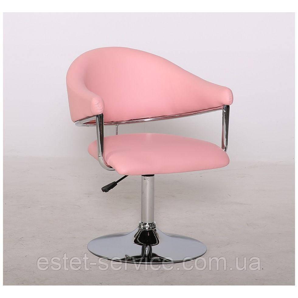 Парикмахерское кресло HC-8056 розовое