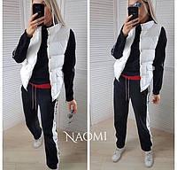 Демисезонная стеганная женская жилетка с карманами 70ZH35, фото 1