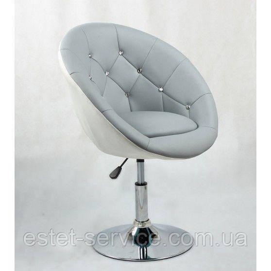 Парикмахерское кресло HC8516 на диске в ДВУХ ЦВЕТАХ кожзам со стразами