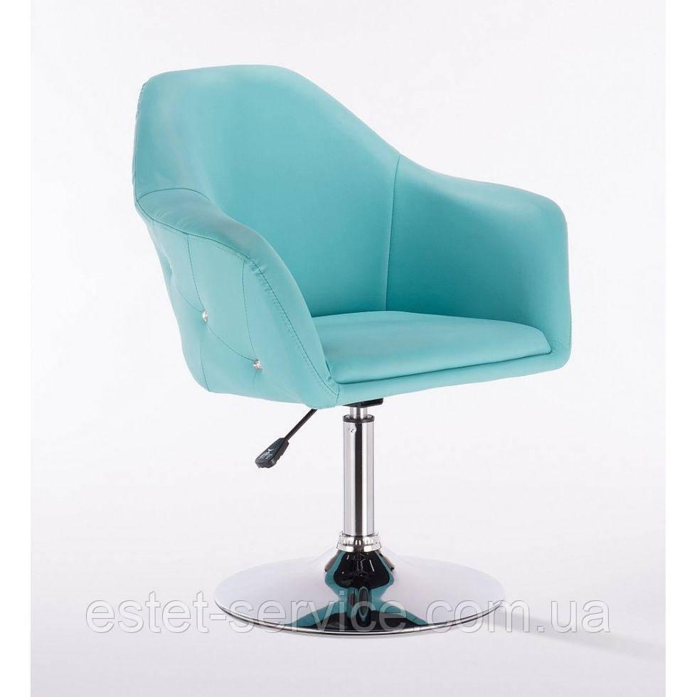 Парикмахерское кресло HC547 бирюзовое