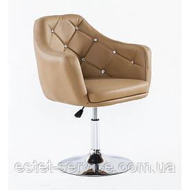 Кресло парикмахерское HC830 на низкой барной основе в ЦВЕТАХ кожзам