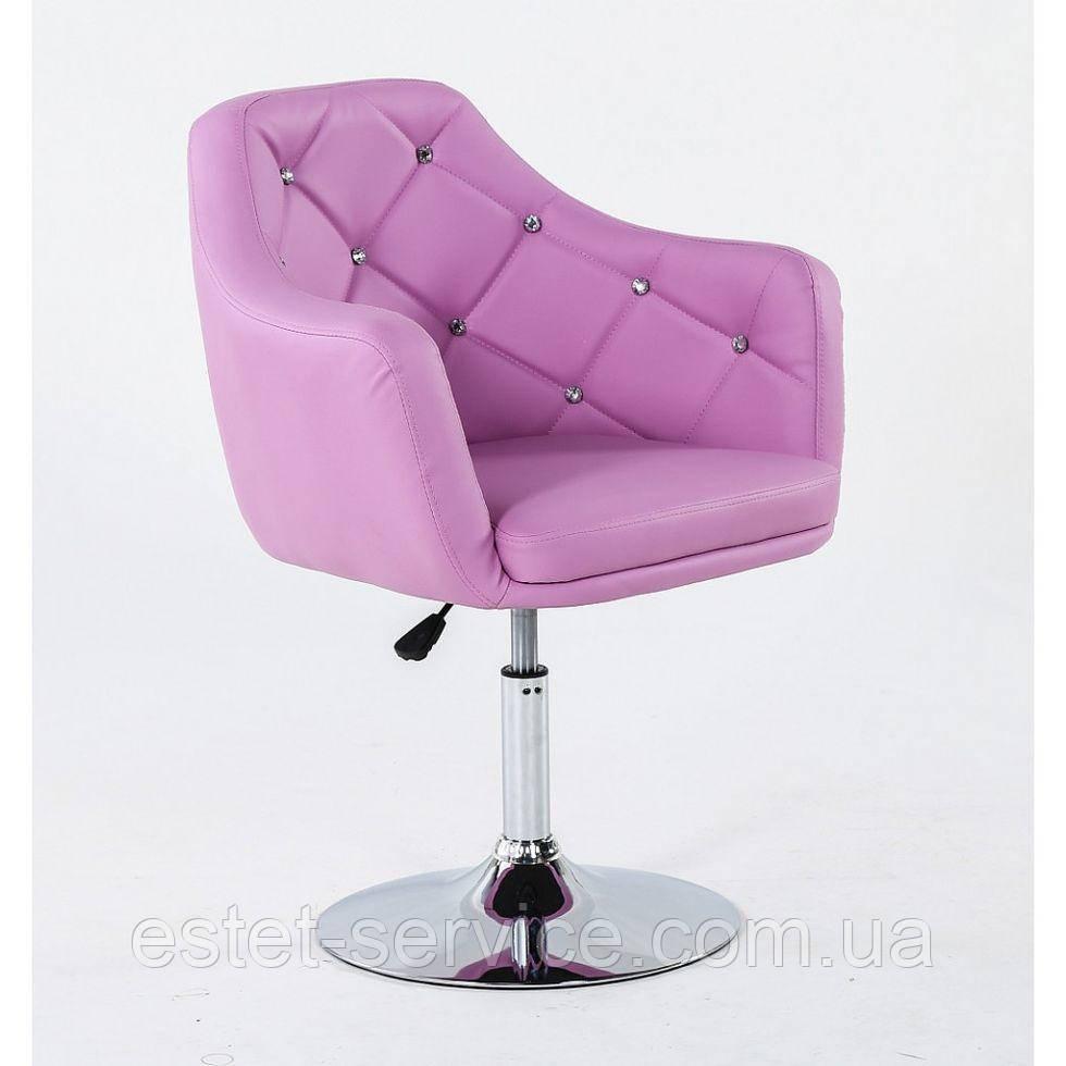 Парикмахерское кресло HC830 лавандовое