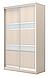 Двери раздвижные для шкафа-купе ДСП + вставки зеркало, фото 2