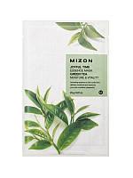 Увлажняющая Тканевая маска с экстрактом зеленого чая MizonJoyful Time Essence Mask Green Tea MoistureVitality