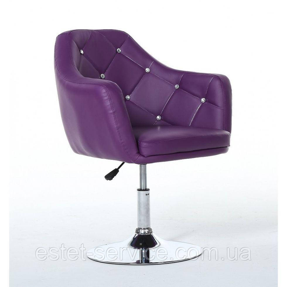 Парикмахерское кресло HC830 фиолетовое кожзам