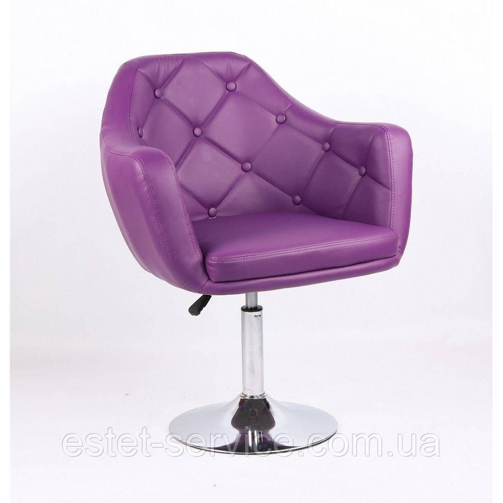 Парикмахерское кресло HC831 фиолетовое