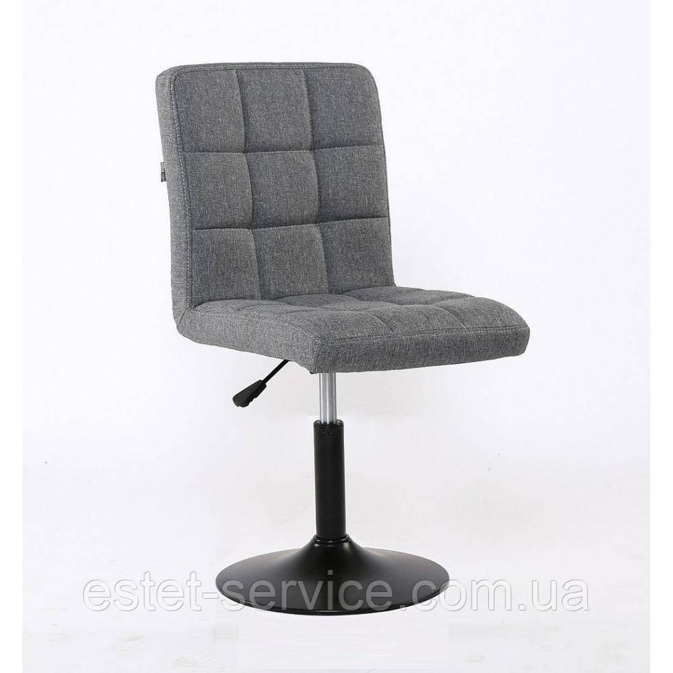 Парикмахерское кресло HROVE FORM HR1015 серое ткань