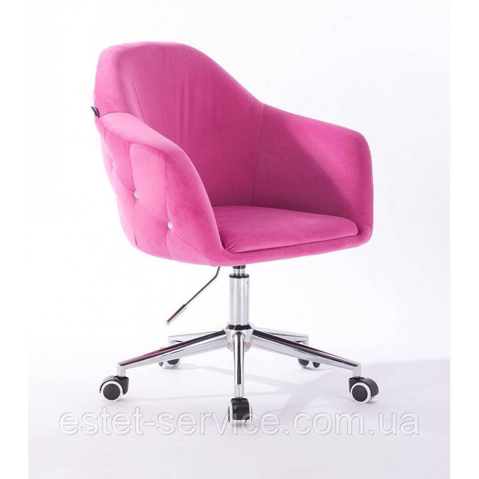 Парикмахерское кресло Hrove Form HR547k малиновый велюр