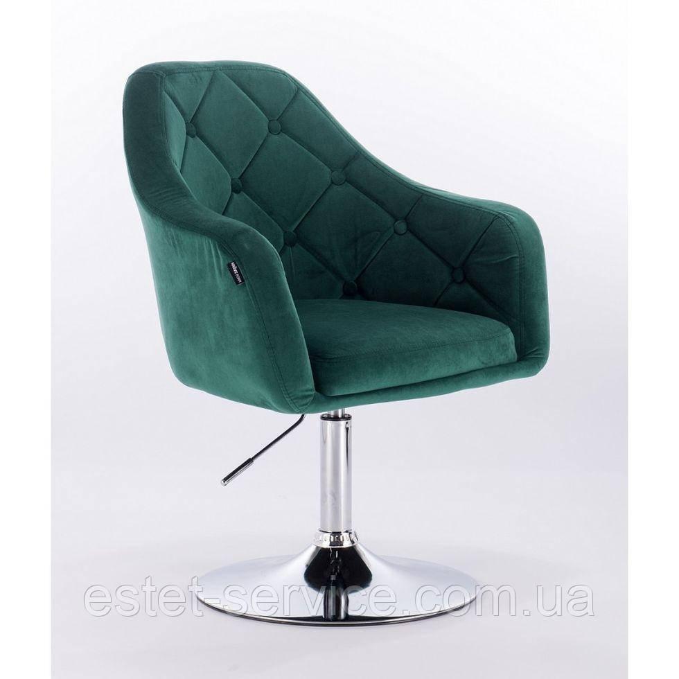 Парикмахерское кресло HROVE FORM HR831 бутылочный зеленый