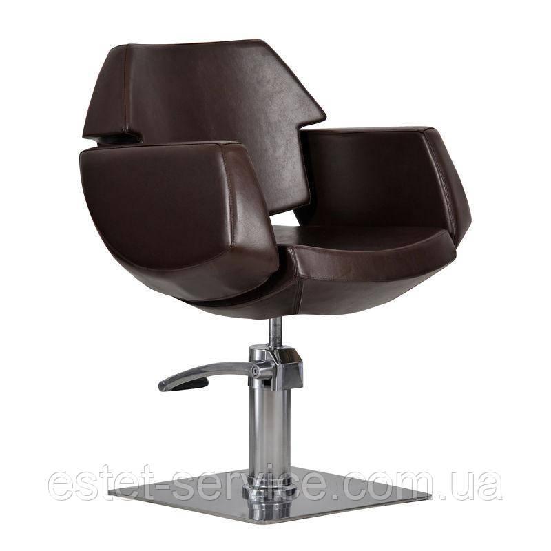 Парикмахерское кресло Imperia коричневое