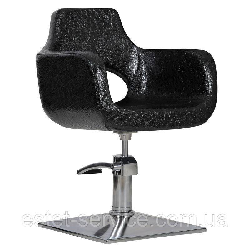 Парикмахерское кресло Mediolan черный крокодил
