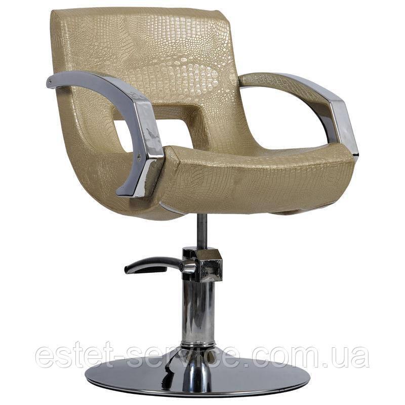 Парикмахерское кресло Roma золотой крокодил