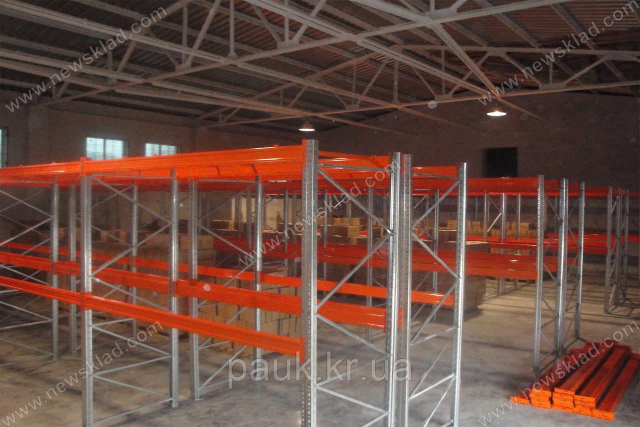 Складські стелажі палетні з фронтальним завантаженням