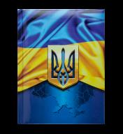 /Блокнот UKRAINE, А-5, 80л., кл., тв. обкл., глян. лам. с поролоном, синій