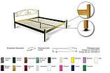 Кровать металлическая  Диана - 1 / Diana - 1  двуспальная 180 (Метакам) 1850х2080х940 мм, фото 3