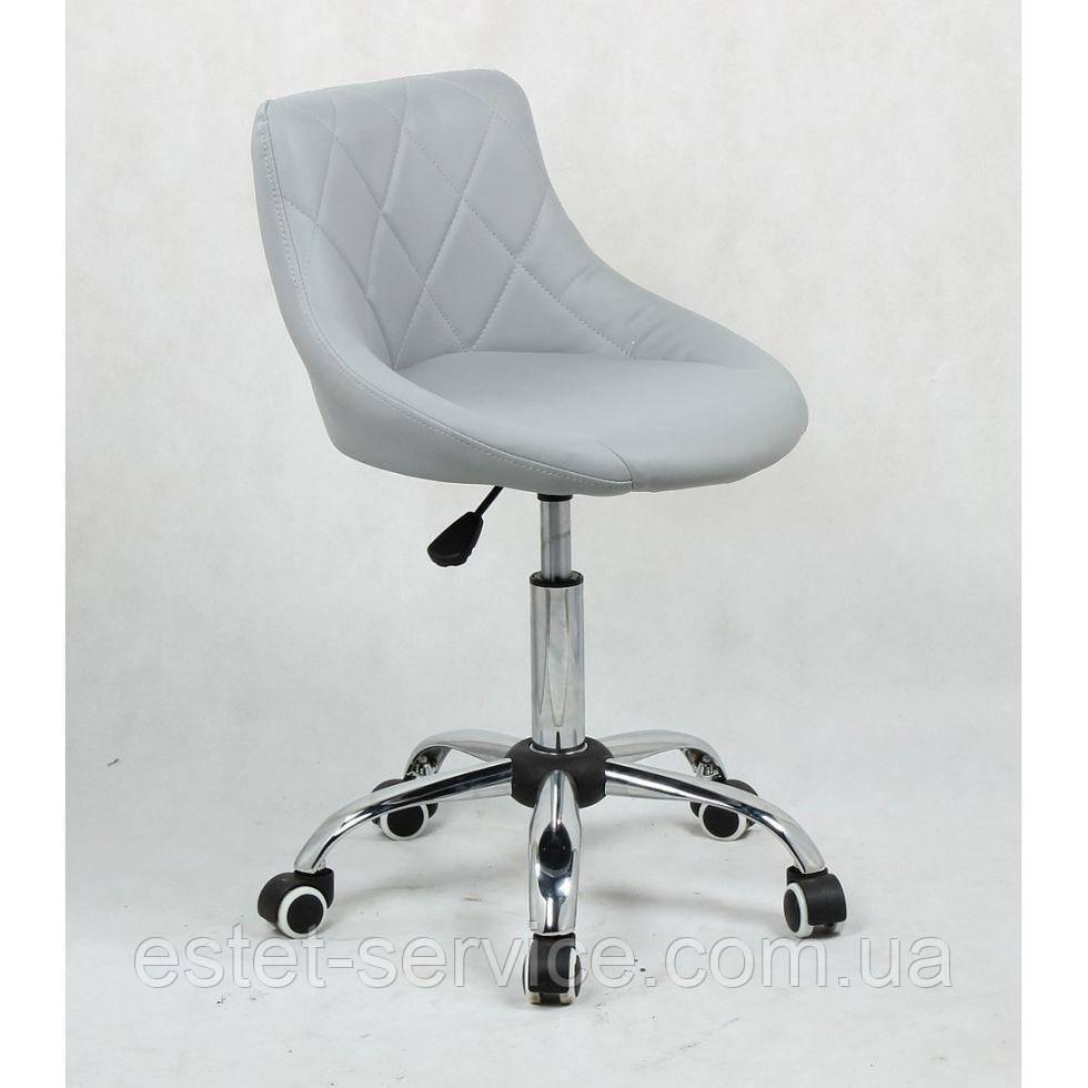 Кресло клиента HC1054K на колесах в ЦВЕТАХ кожзам