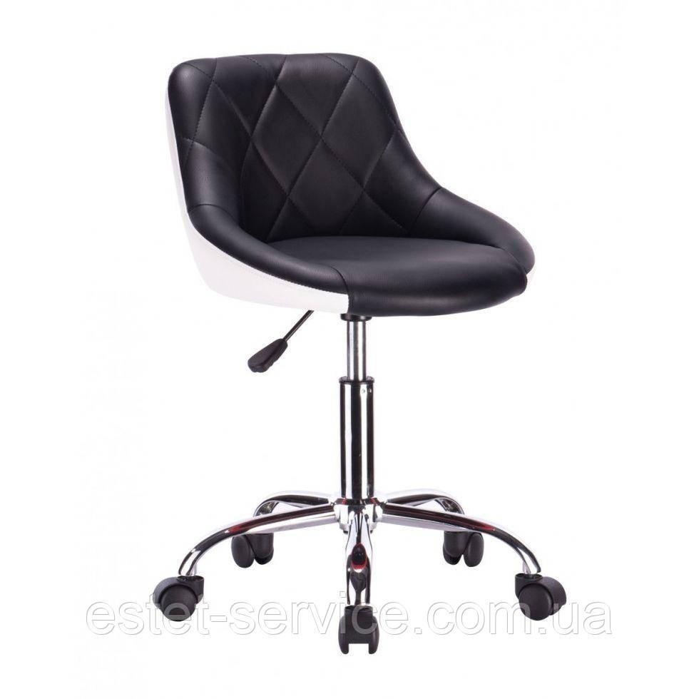 Крісло для майстра HC1054K на колесах в ДВОХ КОЛЬОРАХ кожзам