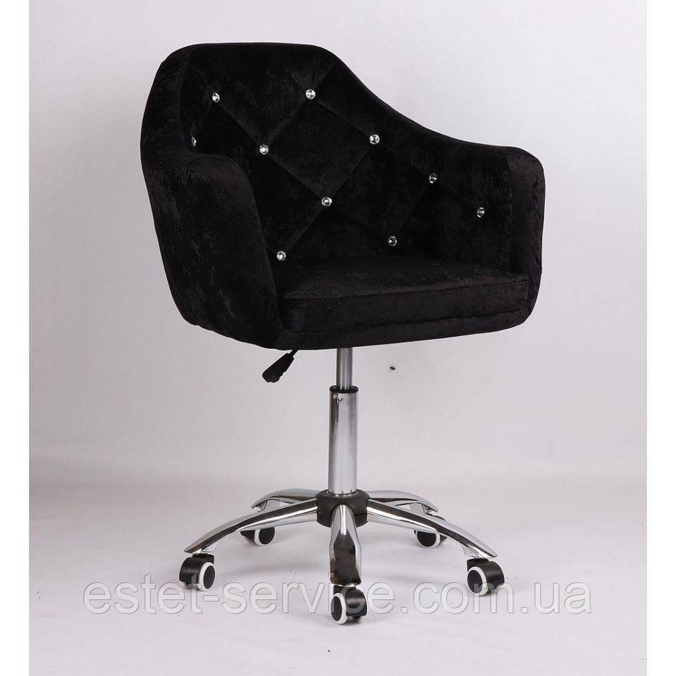 Косметическое кресло HC830K  черное велюр