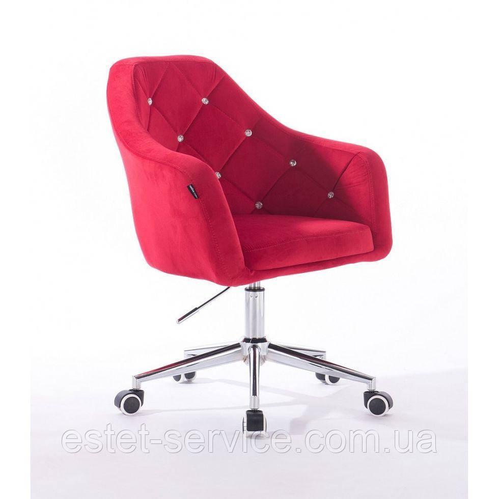 Косметическое кресло HROOVE FORM HR830K красный велюр
