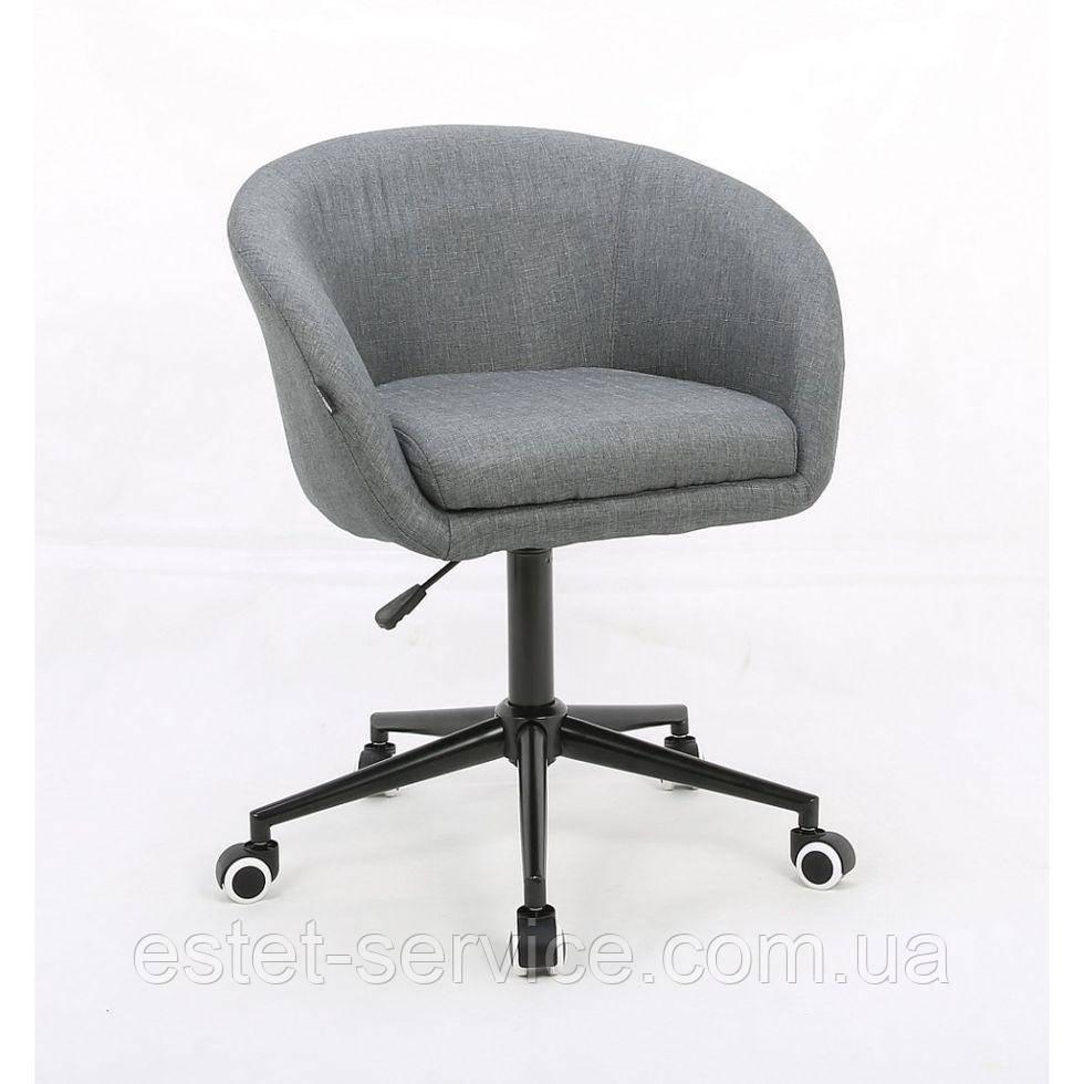 Косметическое кресло HROOVE FORM HR8326K на черных колесах, обшивка ТКАНЬ