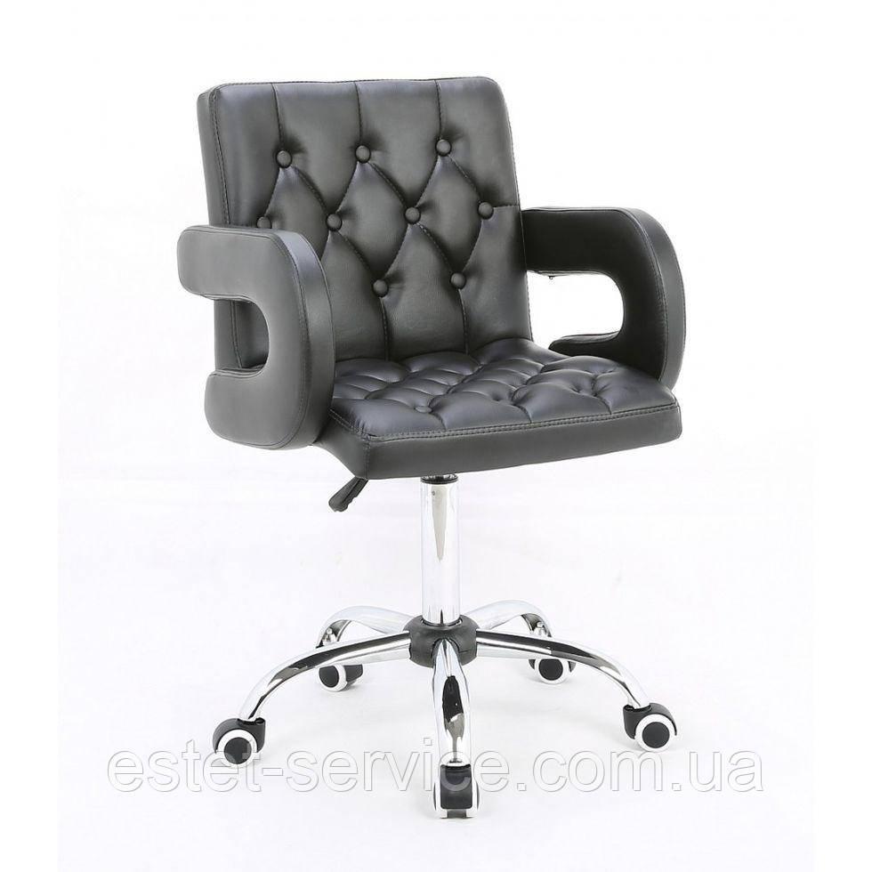Косметическое кресло HROOVE FORM HR8404K на колесах в ЦВЕТАХ кожзам